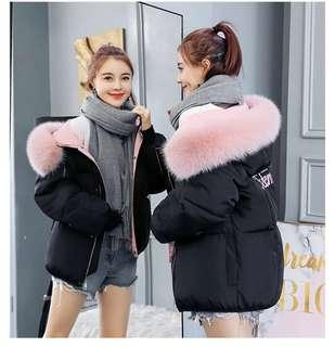 🚚 Winter Jacket in Black with Pink Fur
