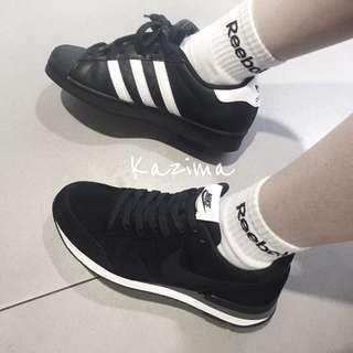 🚚 Reebok Logo 襪 襪子 灰 灰色