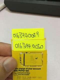 Digi VIP sim pack card couple number