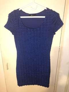 Forever 21 ruffled bodycon dress size small