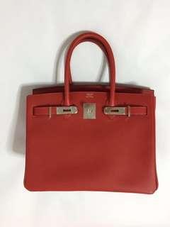 Hermès Rose Tyrien Rouge Casaque Birkins