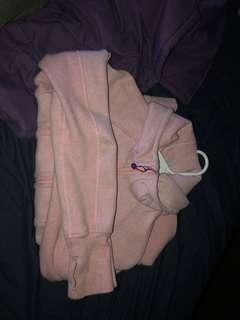 Pink lululemon scuba hoodie