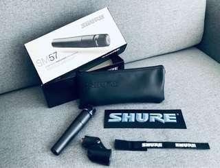 SHURE SM 57 Like New with Original Box and Accessories (Come with FREE XLR Cable Nuetrik Plug)
