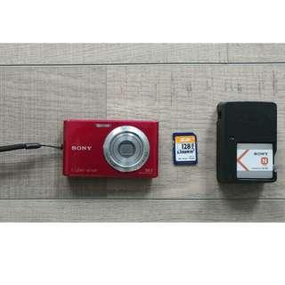 Sony Cyber-shot DSC-W330 14.1 MP Digital Camera - Red