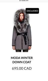 Rudsak Moda Winter Jacket With Fur NEW