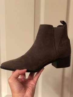 Old Navy Grey Pointed Booties