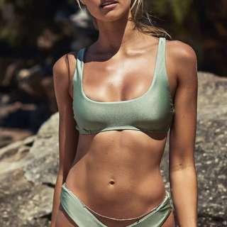 Babetown Bikini in Sage Metallic - Size 8