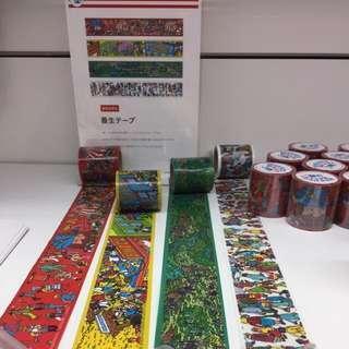 🇯🇵Wally Masking Tape 大卷(共4款) Where's Wally 30周年日本展覽🇯🇵