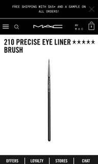 MAC 210 Precise Eyeliner Brush ** BRAND NEW **