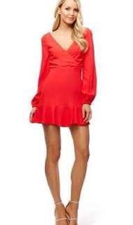 Satinette Vee Dress