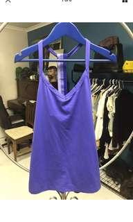 Lorna Jane Active wear women's purple tank top