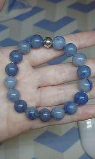 Blue Aventurine Gemstone Bracelet elastic natural 10mm beads sz S & M