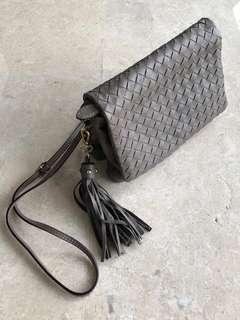 Leather Sling / Clutch Bag (NOT Bottega but from Italy)