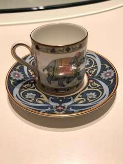 Tea-Wedgwood blue elephant demitasse Cup & Saucer