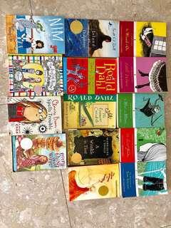 Clearing sale! selling children's books! Roald Dahl, Puffin classics- Little Woman, The wizard of oz, A wrinkle in time, The higher power of lucky, Nim at sea!