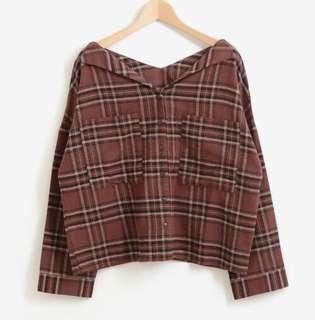 ✨NEW!人氣~18日本majestic legon 复古格子磨毛長袖上衣   恤衫