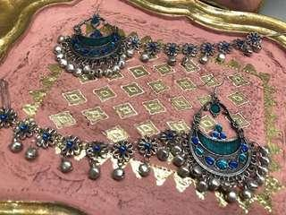 Indian earrings and hair accessories