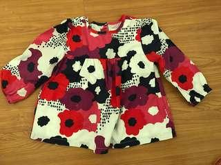 Gymboree Floral long sleeves