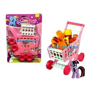 MLP MY LITTLE PONY SHOPPING GROCERY PUSH CART TOYS