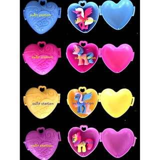 MLP MY LITTLE PONY SURPRISE HEART LOCKET BOX CONTAINER party giveaways souvenirs needs favor