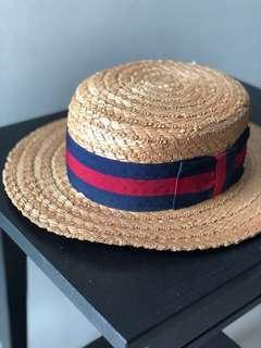 Olney Classic Straw Boater Hat (Original)