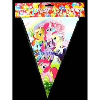 MLP MY LITTLE PONY PARTY DECORATION BANDERITAS BANNERS FLAG NEEDS SUPPLY