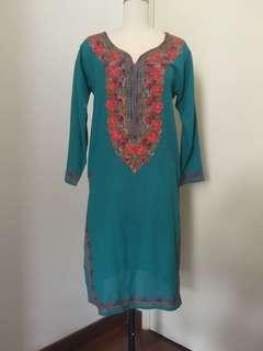 Kurti Blouse 100% Cotton from India muslimah friendly tunic with embroidery #BlackFriday100