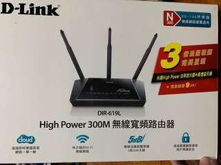🚚 D-Link DIR-619L High Power 無線寬頻路由器 300M WiFi 分享器