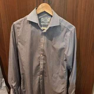 Charles Tyrwhitt Blue/white Shirt, Non-iron Extra Slim Fit