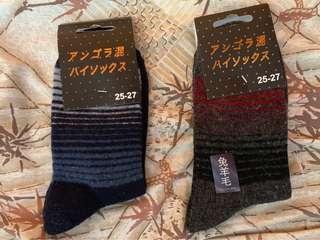 男羊毛襪  Size 25-27  全新 兩對
