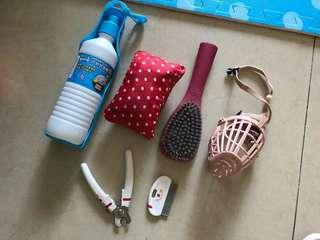 Dog's raincoat comb and other