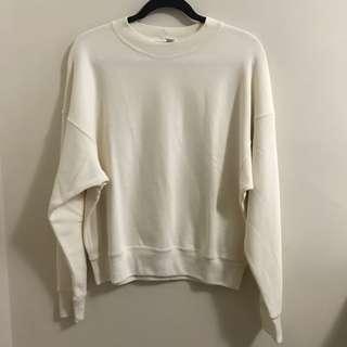 UNIQLO cream crew neck sweater