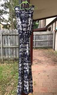 Print pattern maxi dress
