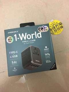 全球通用 旅行 萬用 插頭 usb type c 快充 多地可用 一件頭 方便