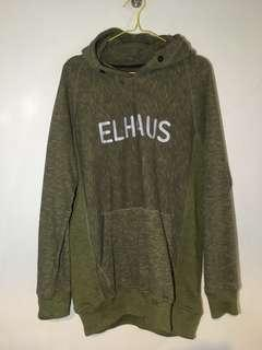 Jaket ELHAUS Hoodie Pull Over Pullover Olive