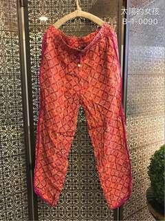 🚚 👭 私人愛典藏·褲子款·熱情花漾沁涼棉褲