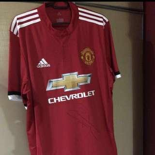 085ffab2e 1x Manchester United Jersey Sign'd By Henrikh Mkhitaryan For $100 !