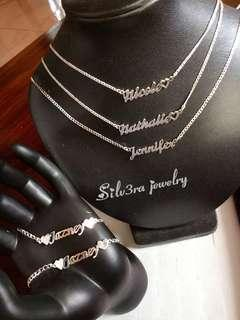 Genuine 925 Italy silver Personalized jewelry
