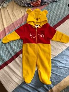 Disney Baby 3-6 Months Onesie  連體衣 夾衣 Winnie The Pooh Long Sleeve Winter Clothes