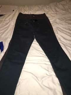 Two pairs of colour jeans