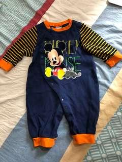 Disney Baby Onesie 3-6 Months  連體衣 夾衣 Long Sleeve Winter Clothes