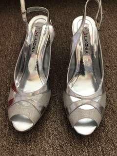 Silver formal/prom heels