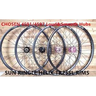 Professional Custom Hand Build to order Wheels for 406/26er/27.5er/29er/700c(CHOSEN, NOVATEC, FASTACE, DT SWISS hubs)