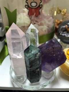 各類水晶柱 消磁碎石套裝 特價發售