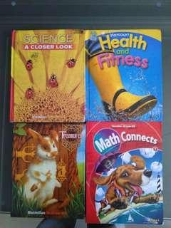 🚚 美國小學教科書(科學,健康教育,數學,人文藝術有五本)共八本