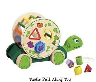 Turtle pull along toy - 700 pesos