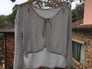 Cotton on Striped long sleeve shirt