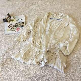 SALE! Cozy Cream Long Belted Cardigan