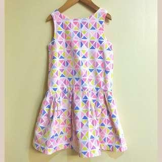 Mothercare Girl's (4-5Y) Sleeveless Retro Vibe Dress
