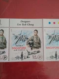 🚚 [WTS] Brand New 5 Pc of 2018 RSAF 50 Anniversary Commemorative 1st Local Addressee Stamps. With Special Offset Lithography with Silver n Clear Foil Stamping. Stamp Sz 45mm x 44.75mm. See  All Pics Esp Last Pic.
